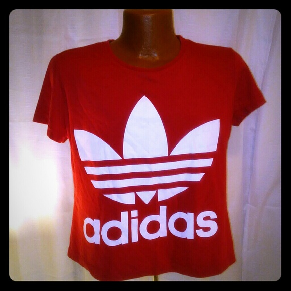 adidas Other - Adidas Mens Or Women s Red Crop Top XL 63f366859b